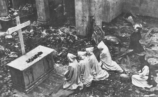 After the fire, March 1950.